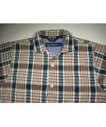 NAUTICA  XL (7)  Blue Yellow Red Plaid Short Sleeve  Boys Shirt RARE - $99.99