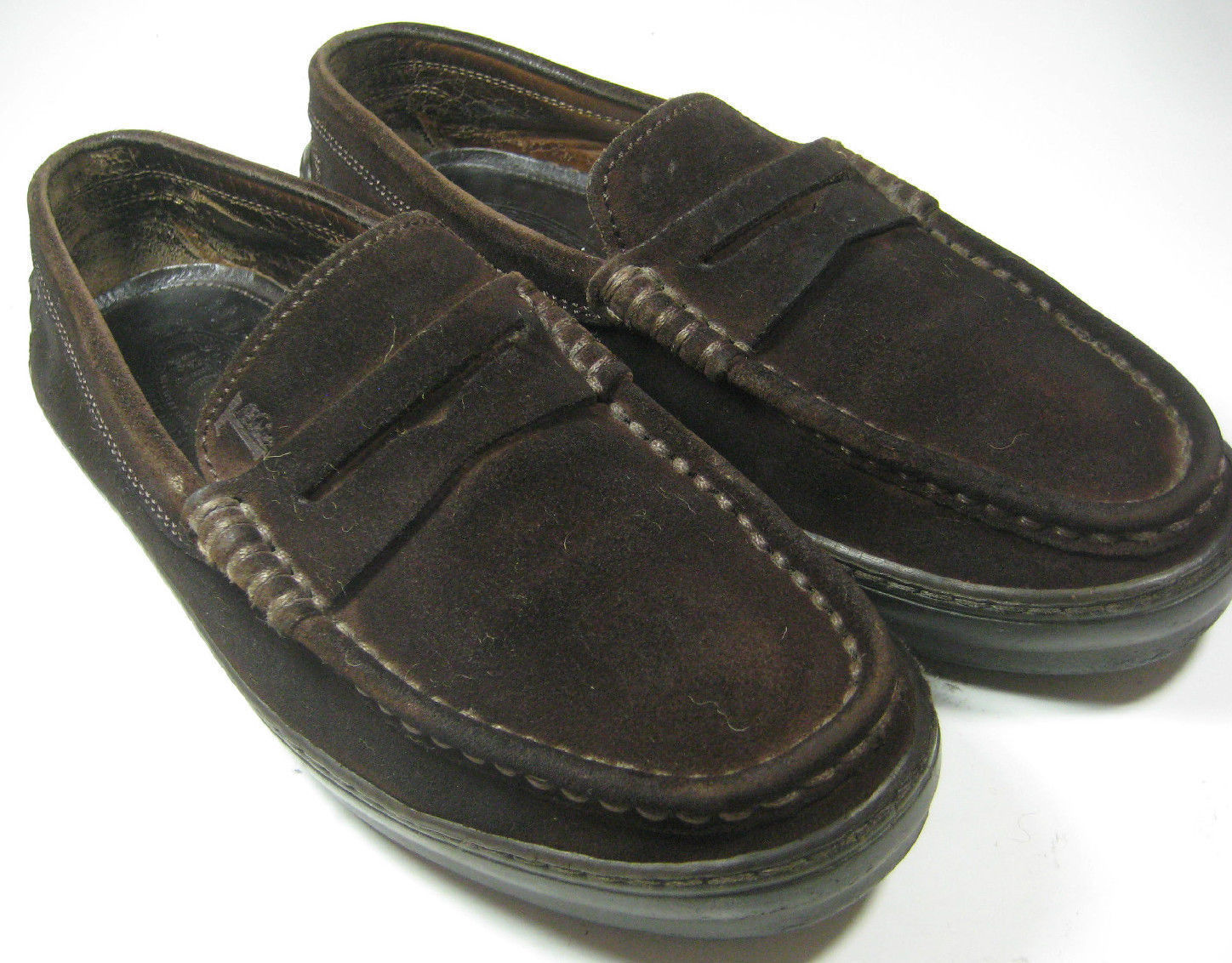 TOD'S  6.5 Rich Brown Suede Vibram Loafers  RARE