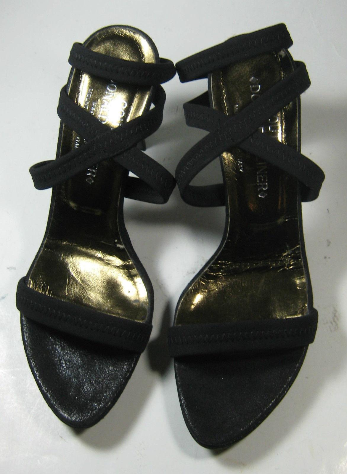 DONALD J. PLINER Couture 7.5M Exquisite Rich Strappy Heels Sandals Rare Exce