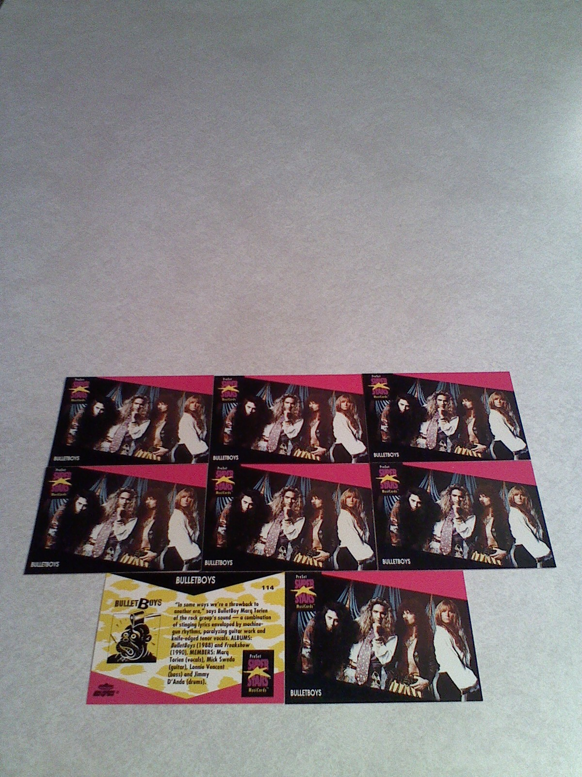 ***BULLETBOYS***  Lot of 22 cards.....2 DIFFERENT / MUSIC