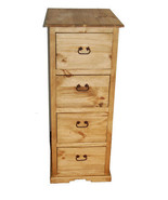 Rustic 4 Drawer File Cabinet Western Office Furniture File Storage Cabin... - $593.01