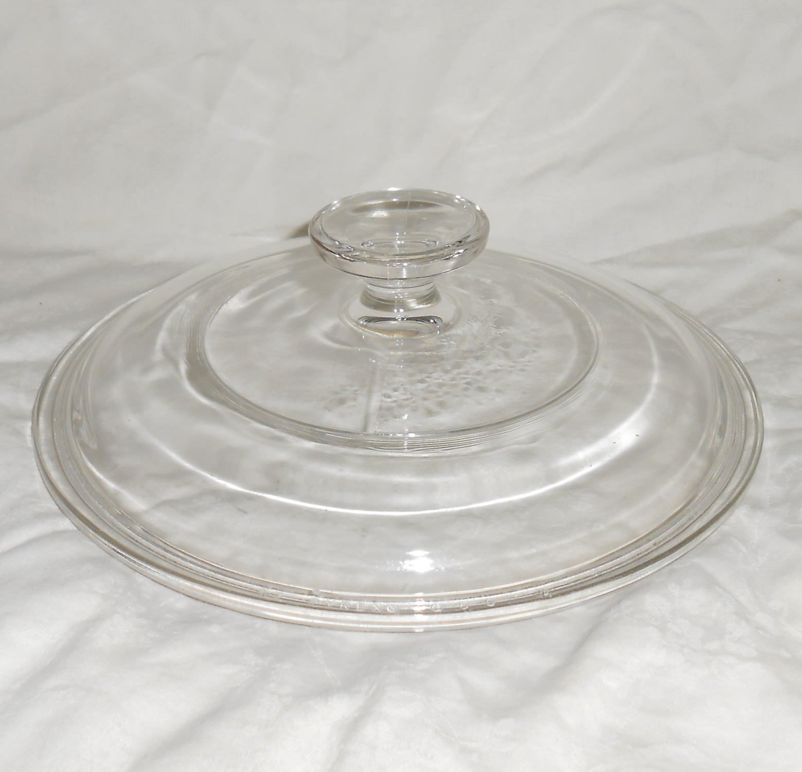 Pyrex  g 5 c round clear 7in glass lid 011
