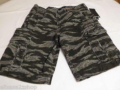 Men's Hurley NEW walk casual shorts 28 camo camouflage surf skate black cargo