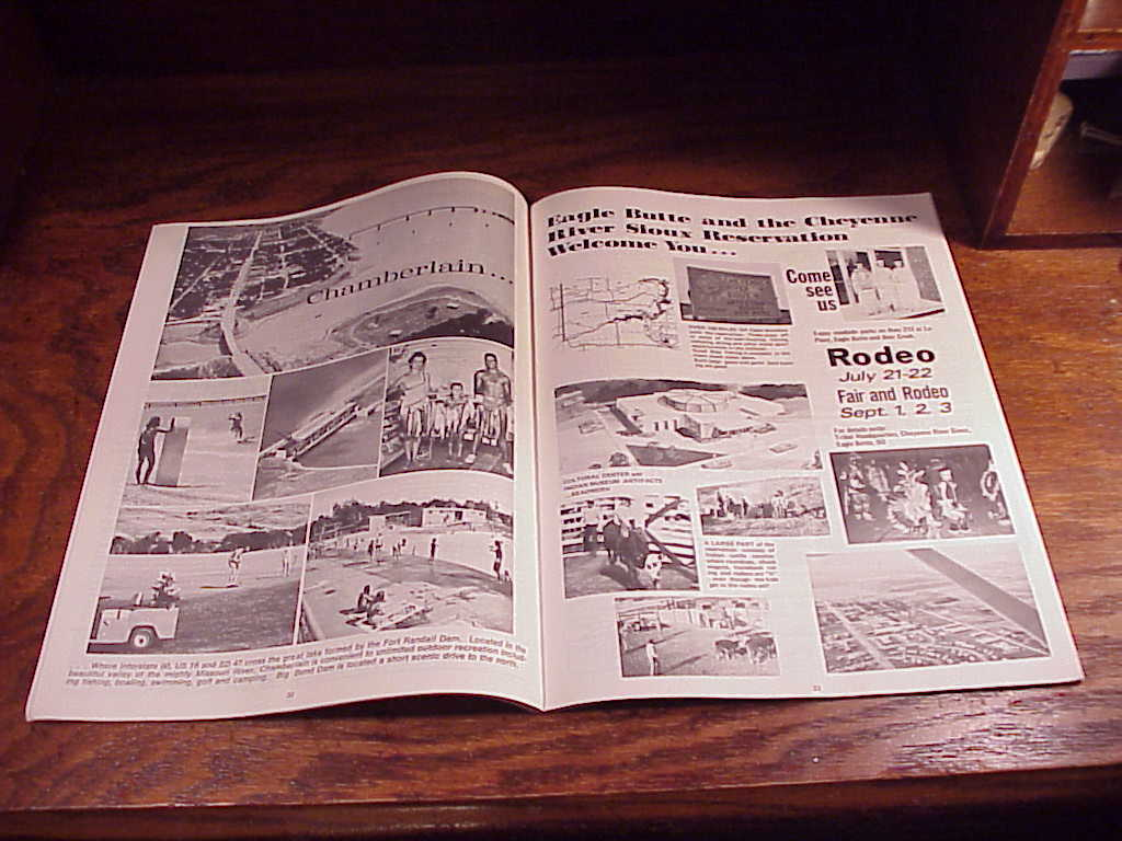 Lot of 2 1970's South Dakota Travel Brochures, Guides, Of All Places