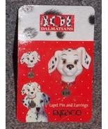 Disney Enesco 101 Dalmations Lapel Pin & Earrings Set New - $14.99