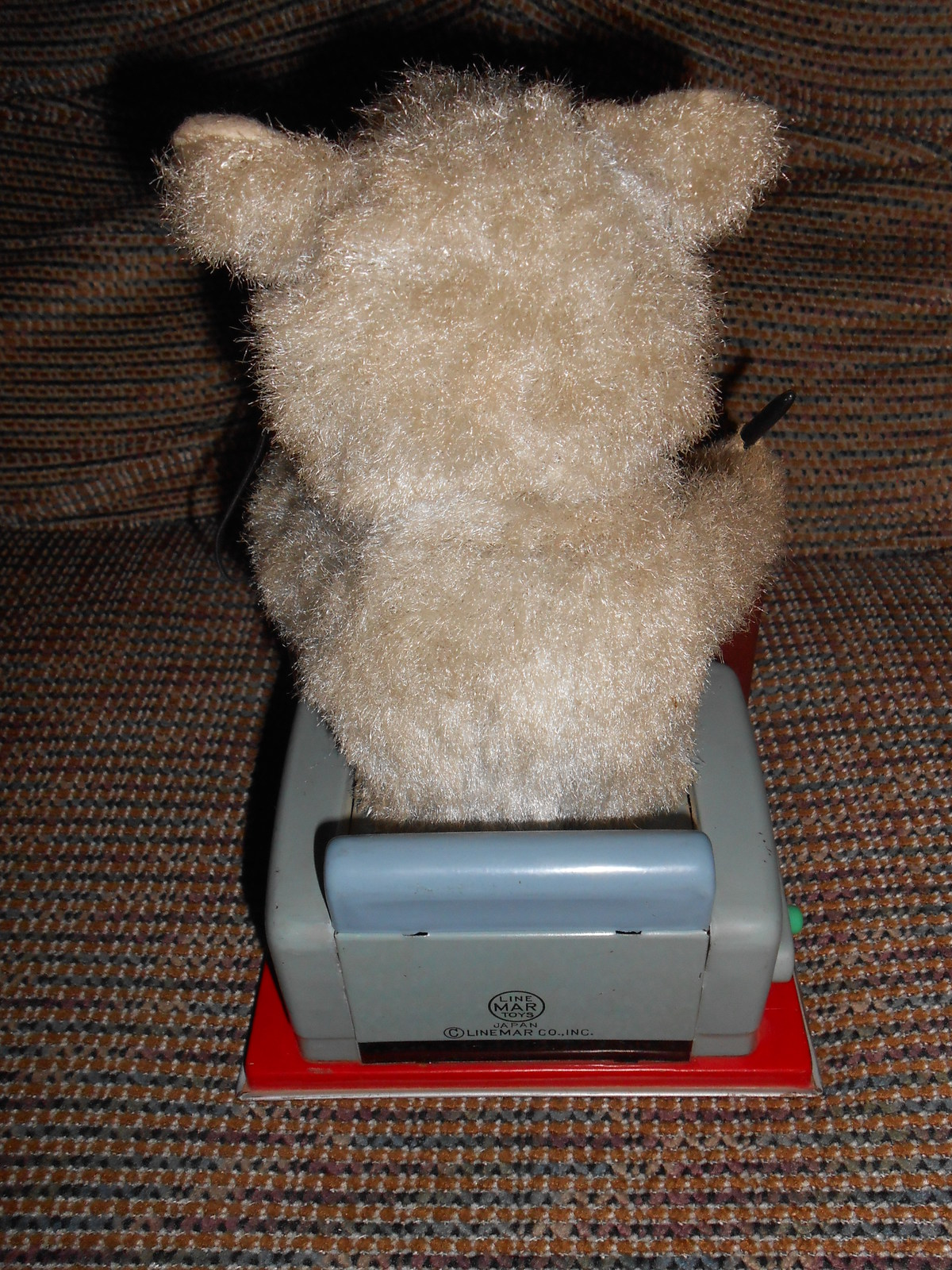 Vintage Linemar Busy Bear Working Tin Toy