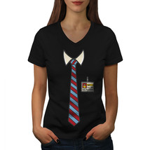 Full Time Nerd Tie Geek Shirt  Women V-Neck T-shirt - $12.99+