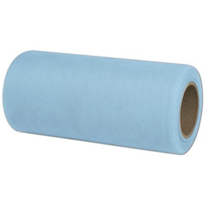 Light Blue Tulle Ribbon - 4 rolls