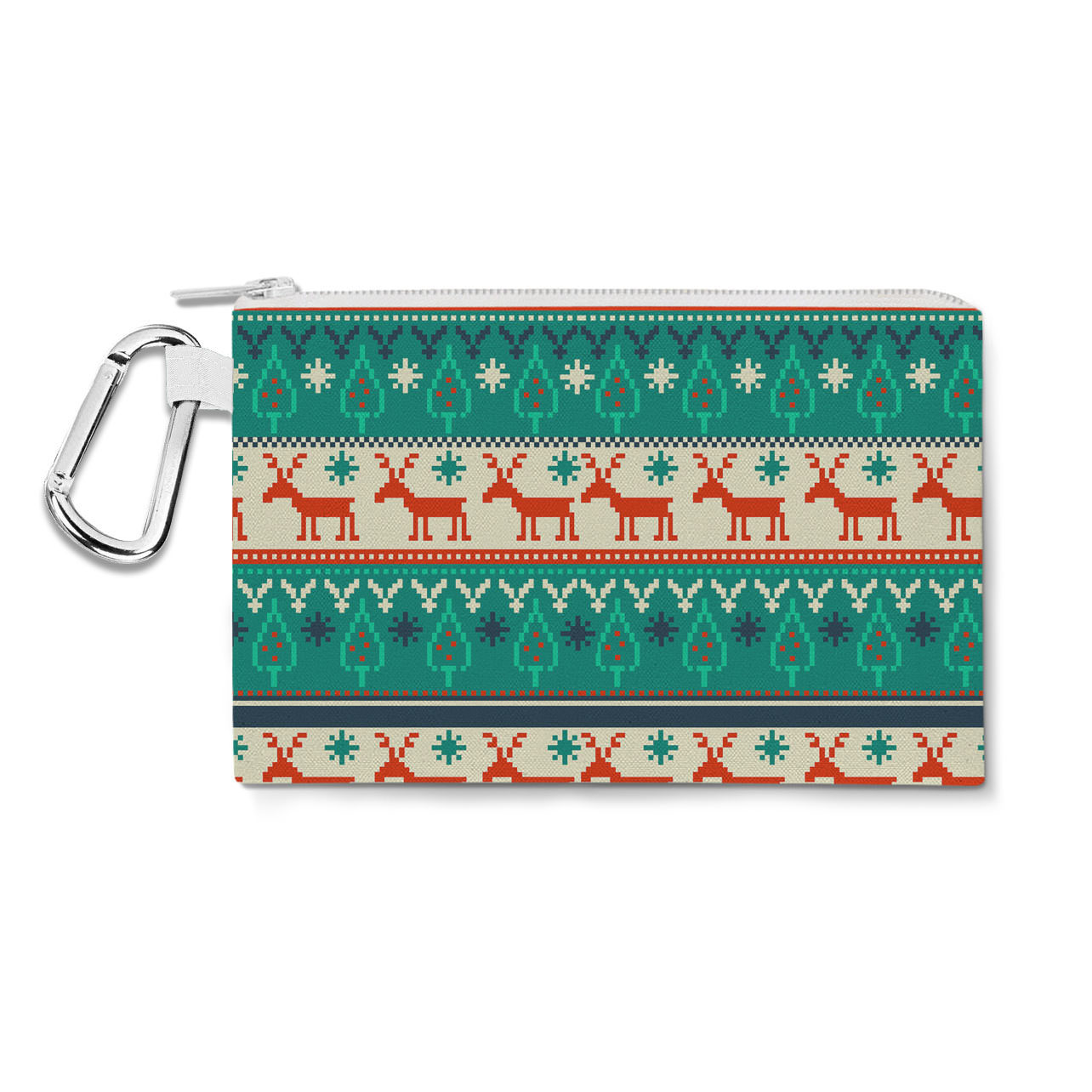 Ugly Christmas Sweater Canvas Zip Pouch