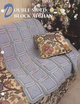Double-Sided Block Afghan, Annie's Crochet Quilt & Afghan Pattern Club Q... - $2.95