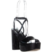 Nine West Markando Block Heel Platform Strappy Sandals, Black, 6.5 US - $32.63