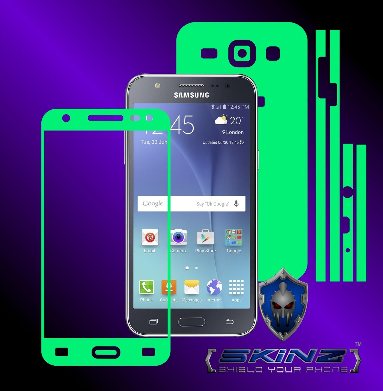Samsung galaxy j5 glow in the dark full body skin
