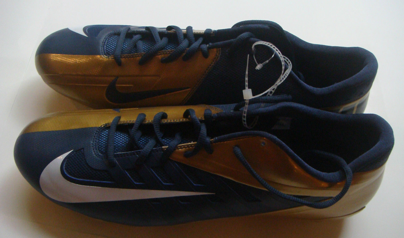 NEW Nike Vapor Pro Elite Navy Blue Gold Football Size 16 Cleats
