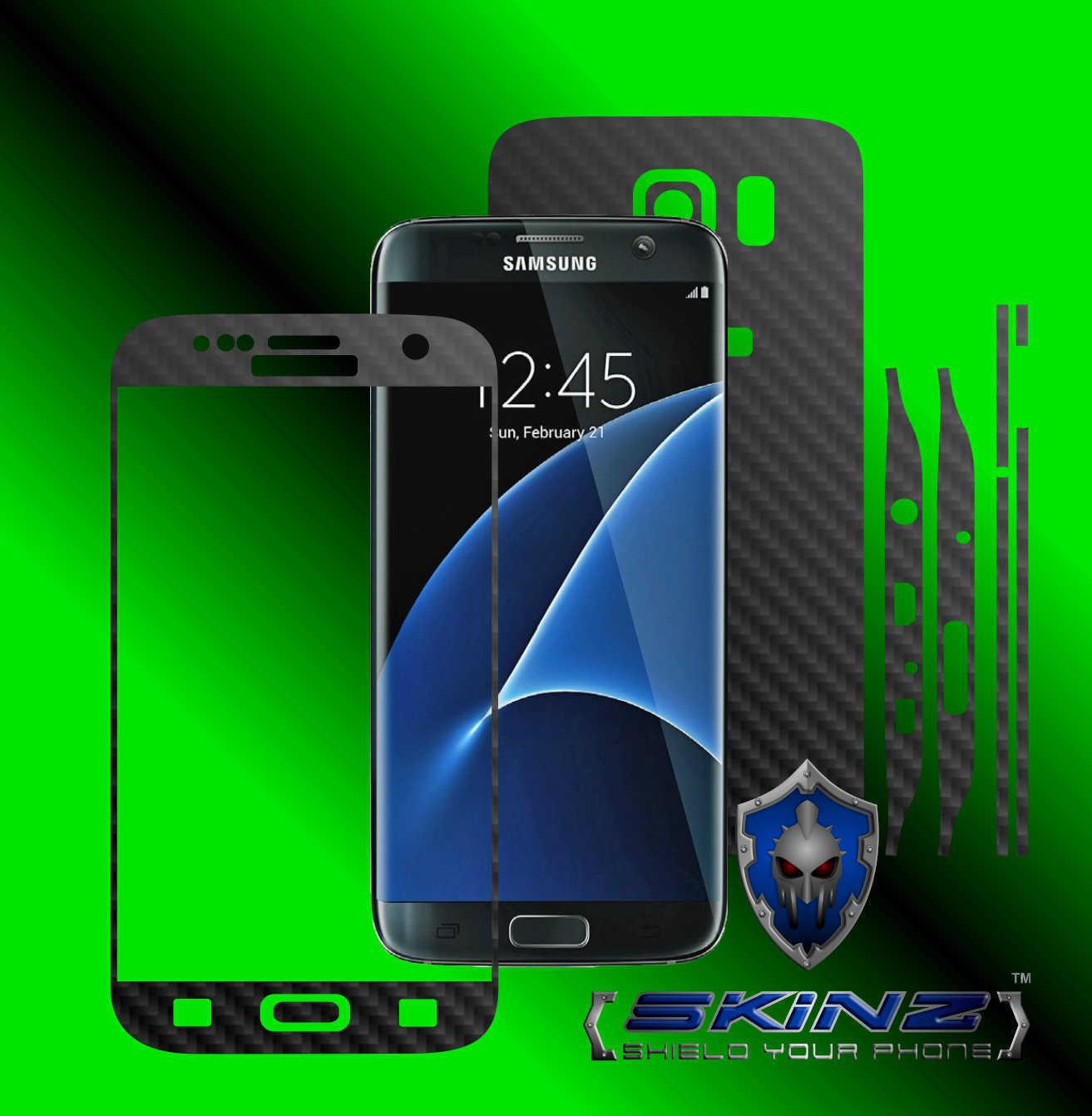 Samsung galaxy s7 edge full body carbon skin