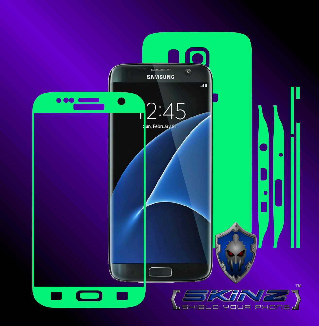 Samsung galaxy s7 edge glow in the dark full body skin