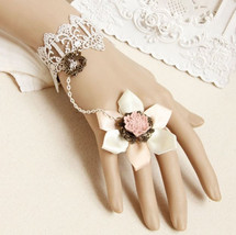 Flower Style Fashion Charm Womens Lace Vintage Ring Bracelet Bangle Prom... - $6.79