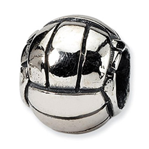 Reflection Beads Sterling Silver VolleybMost Bead Charm