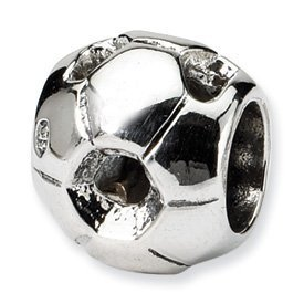 Reflection Beads Sterling Silver SmMost Soccer Bead Charm