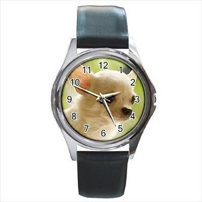 Chihuahua Square Round & Square Leather Strap Watch - Dog Puppy