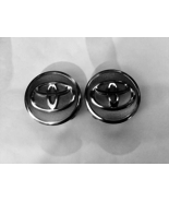 TWO (2) USED TOYOTA UNDEFINED CHROME/MESH WHEEL CENTER HUBCAPS PART #PC+ABS AUTO - $12.11
