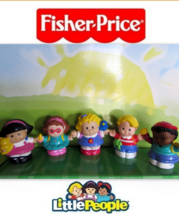 EUC Fisher Price Little People Family Lot Home School Bus Playground Cit... - $9.99