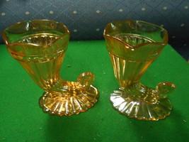 TWO Vintage Jeannette Glass Marigold CARNIVAL C... - $17.42