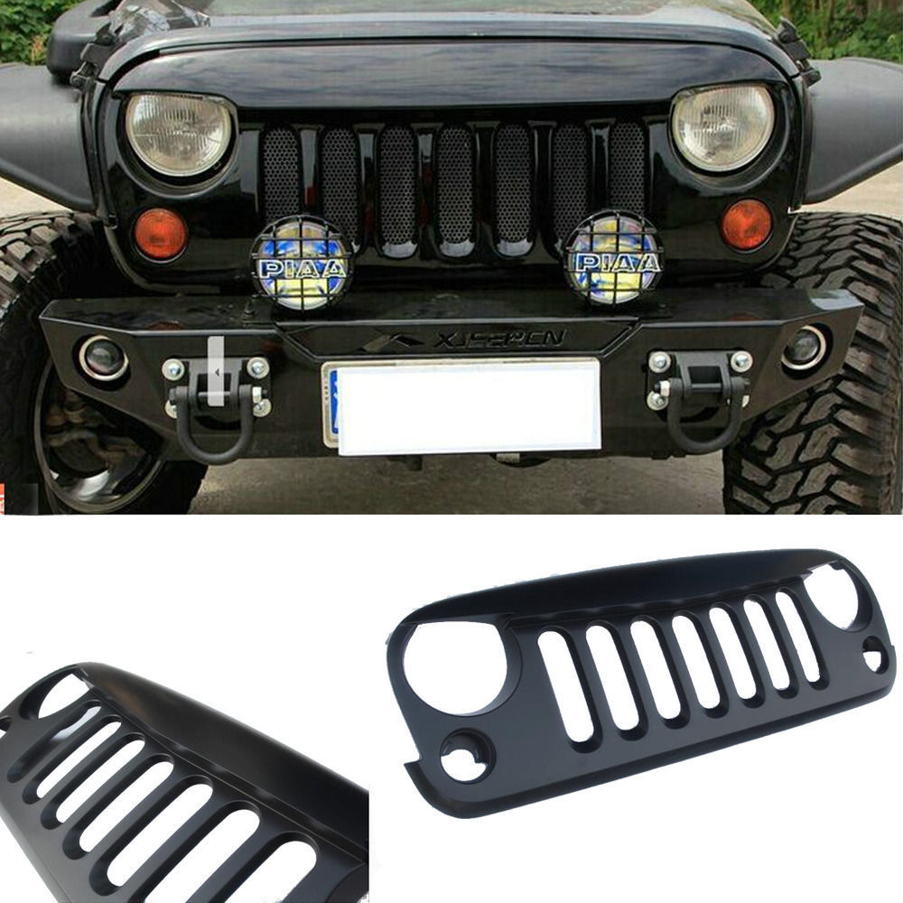 DIY Paint Angry Bird Style Front Grille Grill Hood Sport For 07-14 Jeep Truck