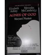 AGNES OF GOD POSTER -  ELIZABETH ASHLEY, MERCEDES MCCAMBRIDGE & MARYANN ... - $15.20