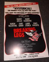 BREAKING LEGS POSTER - KAREN VALENTINE, HARRY GUARDINO & DANNY AIELLO - $13.30
