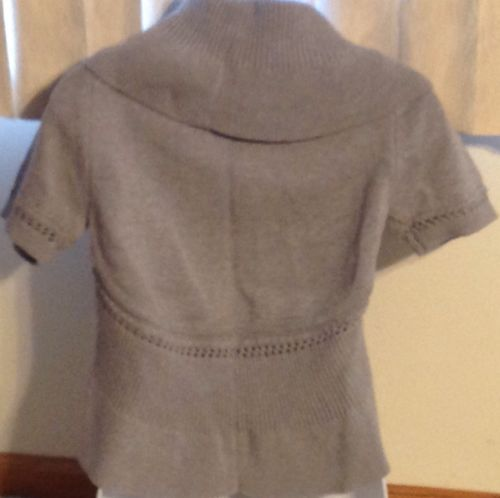 Cardigan Sweater New With Tags Grace Elements Ladies Heather Gray V Size Small