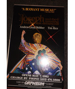JOSEPH AND THE AMAZING TECHNICOLOR DREAMCOAT POSTER- LAURIE BEECHMAN - S... - $16.15
