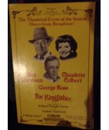 Rex Harrison in Kingfisher Poster - With Claudette Colbert and George Rose - $14.25