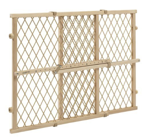 Evenflo Position and Lock Wood Gate, Tan baby pet room baricade fence divider
