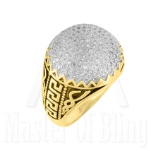 14K Gold Finish Ring Mens 925 Silver Simulated ... - $49.99 - $59.99