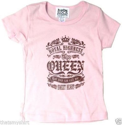 New Authentic Royal Highness The Queen Toddler T-Shirt Size 2