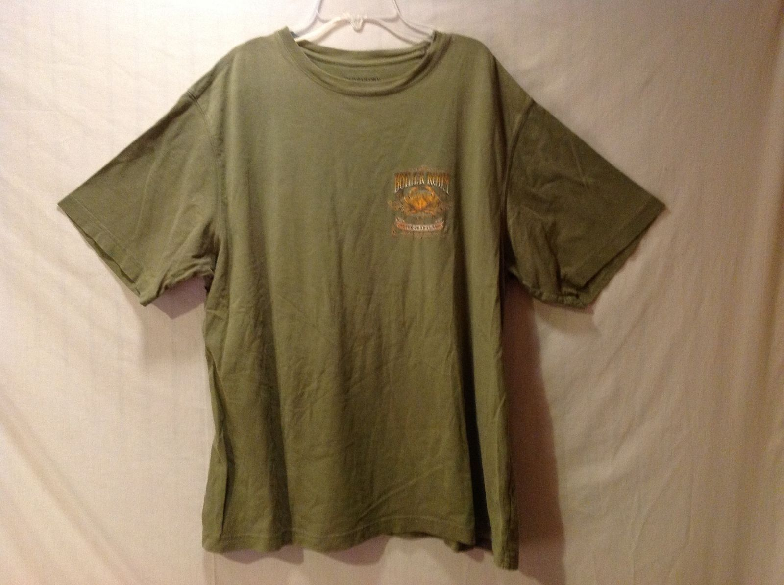 Faded Glory Men's Olive Green T-Shirt  Size XL Crab Boiler Room Logo