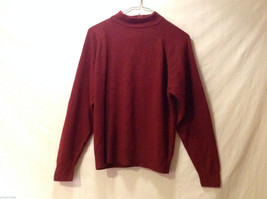 Designers Women's Size M Sweater Burgundy Red Mock-Neck Pullover w/ Long Sleeves