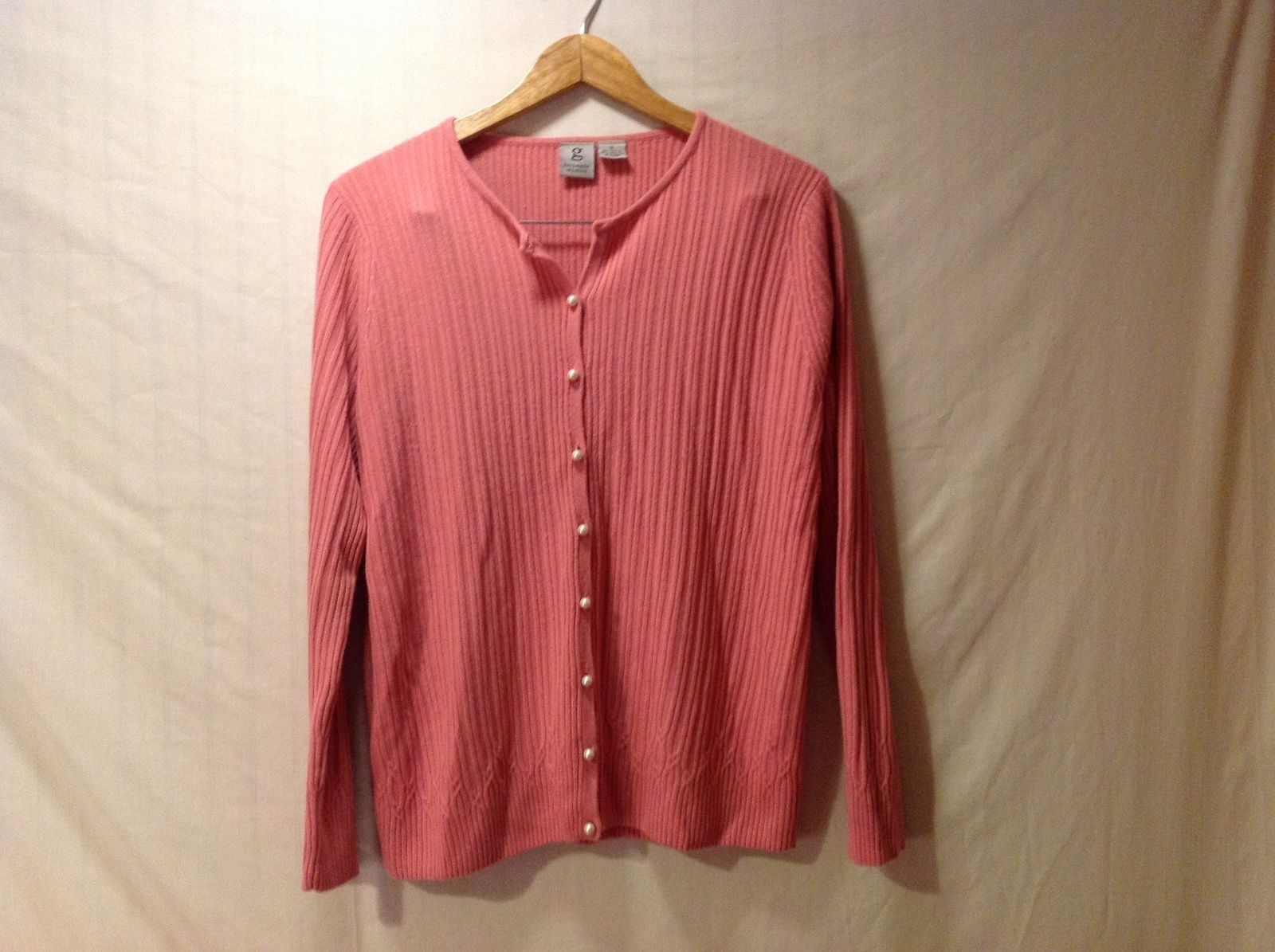 G Knitwear Woman Women's Rose Colored Cardigan  Size XL