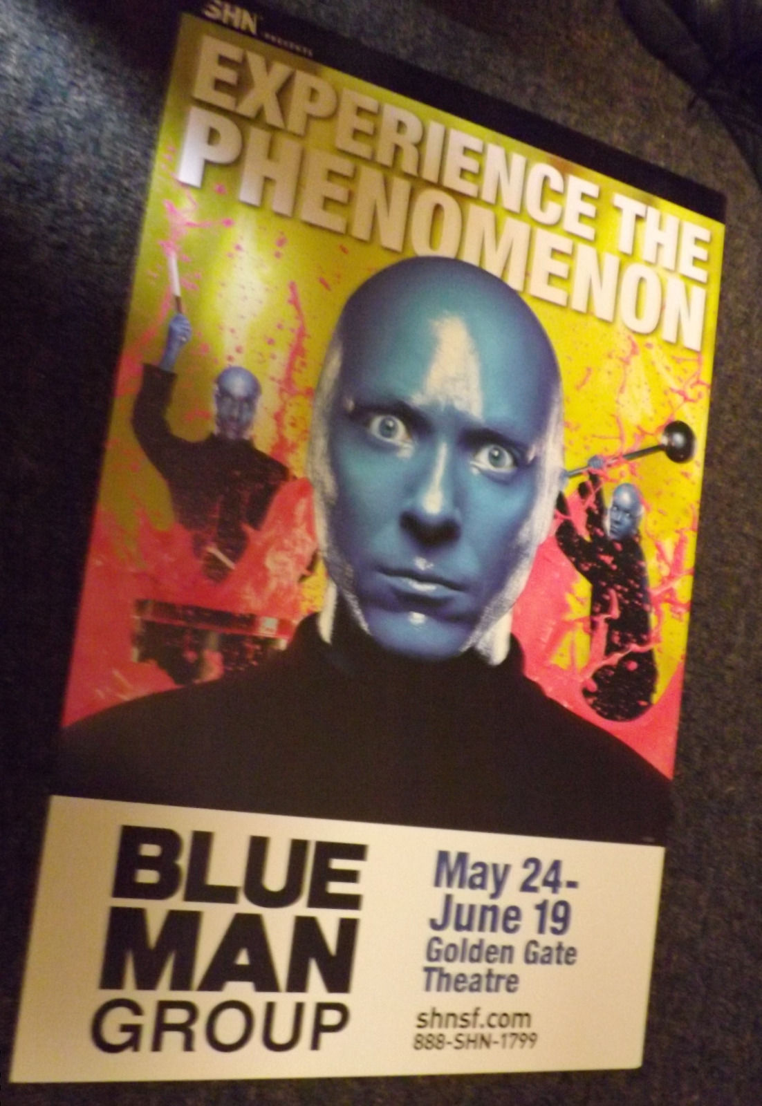 BLUE MAN GROUP POSTER - SF