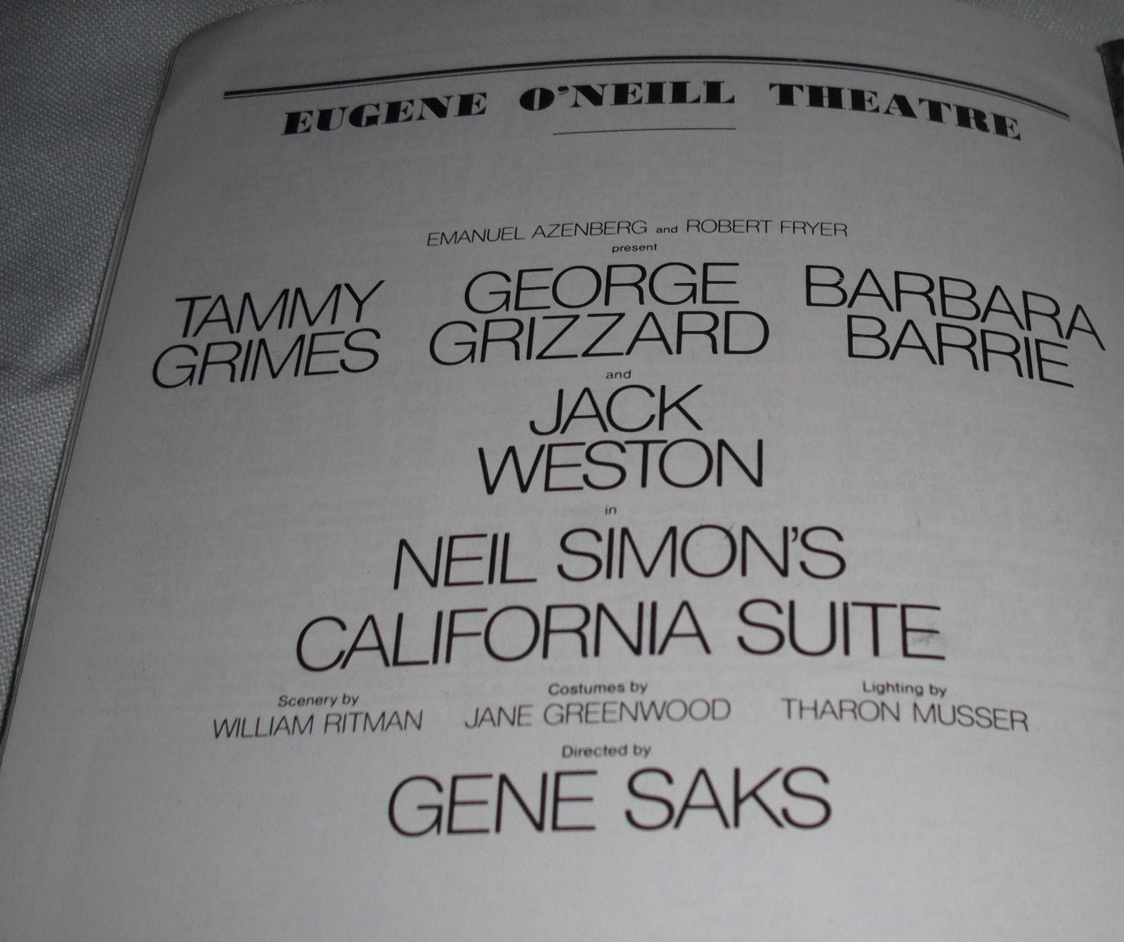 """CALIFORNIA  SUITE"" EUGENE O'NEILL THEATRE JUNE 1976"