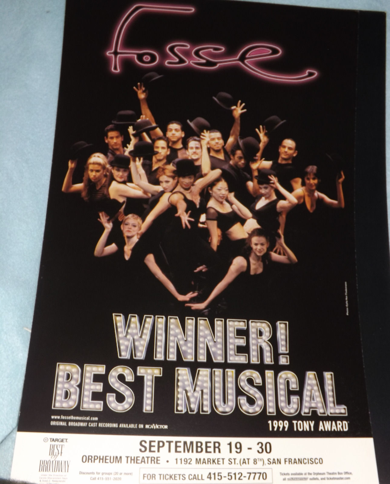 FOSSE POSTER - SF RUN 2000