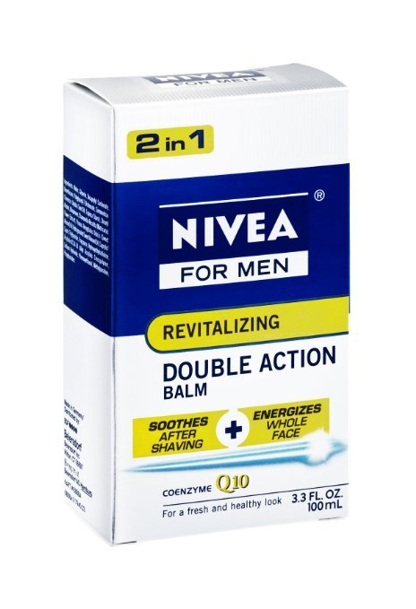 Nivea for Men 2 in 1 Revitalizing Double Action Balm with coenzyme Q10, 3.3 oz