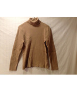 Style & Co. Women's Size L Ribbed Turtleneck Shirt Top Thin Knit Tan Cam... - $31.67
