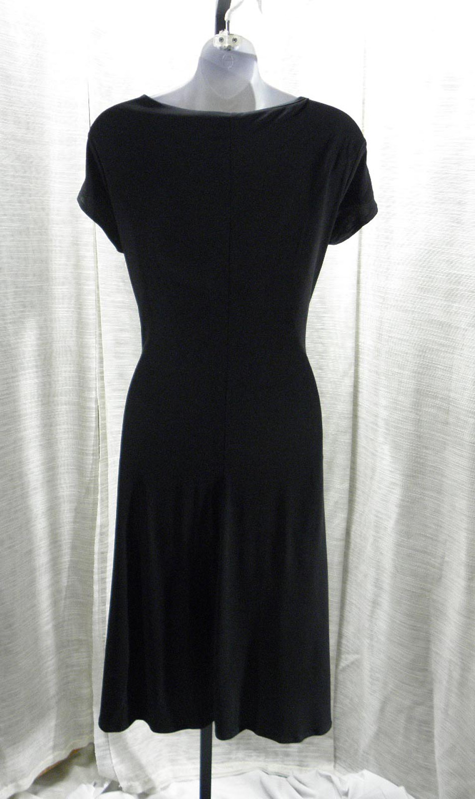 B-Slim Cap-Sleeve Body-Shaper Solid Black Dress Polyester Blend Sz:X Large 16/18