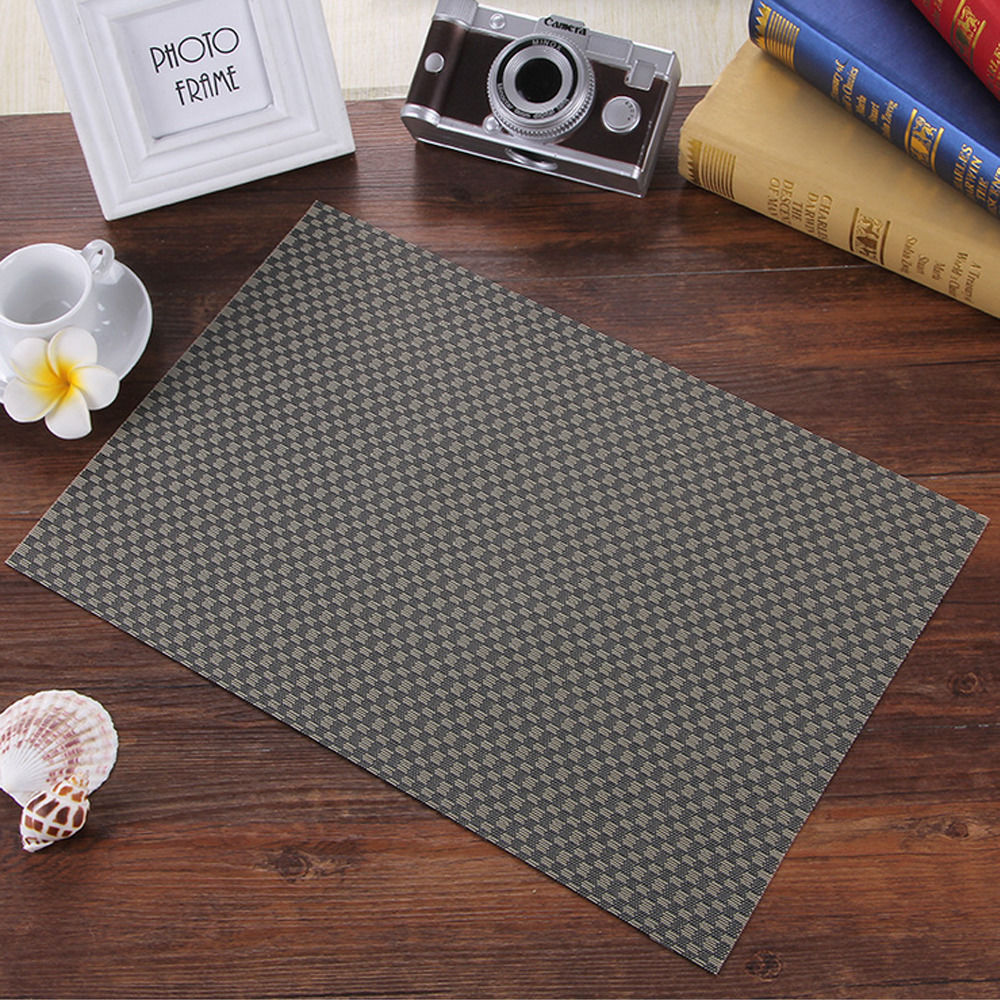4pcs High-grade Kitchen Table Mats Insulation Bowl Placemats Dining Pad Western