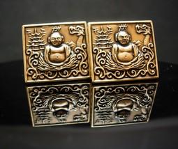 Rare Dragon Buddha Cufflinks Vintage Siddhartha Gautama Religious Spiritual Budd - $155.00