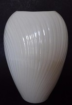 Lenox MIRAGE Collection Vase Medium Made in USA Ribbed Ivory White - $19.30