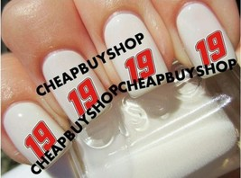 Top Quality》Nascar Race Driver》Carl Edwards #19》Tattoo Nail Art Decals《Non Toxic - $16.99