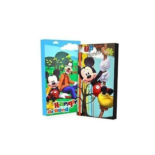 Child Disney Mickey Mouse Picture Glow Decor Canvas Wall Art Set Bedroom Play