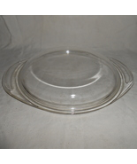 Pyrex  682 c 21 round clear glass lid w tabs 002 thumbtall